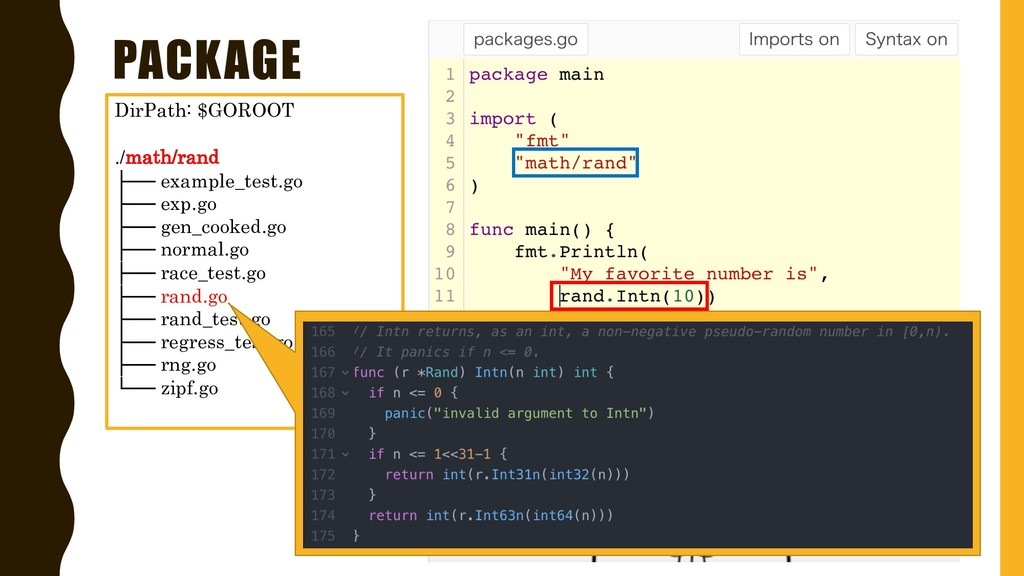 PACKAGE DirPath: $GOROOT ./math/rand ├── exampl...