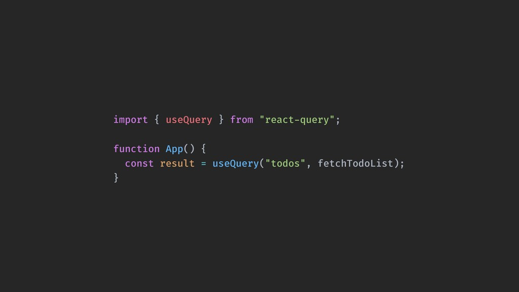 """import { useQuery } from """"react-query""""; functio..."""