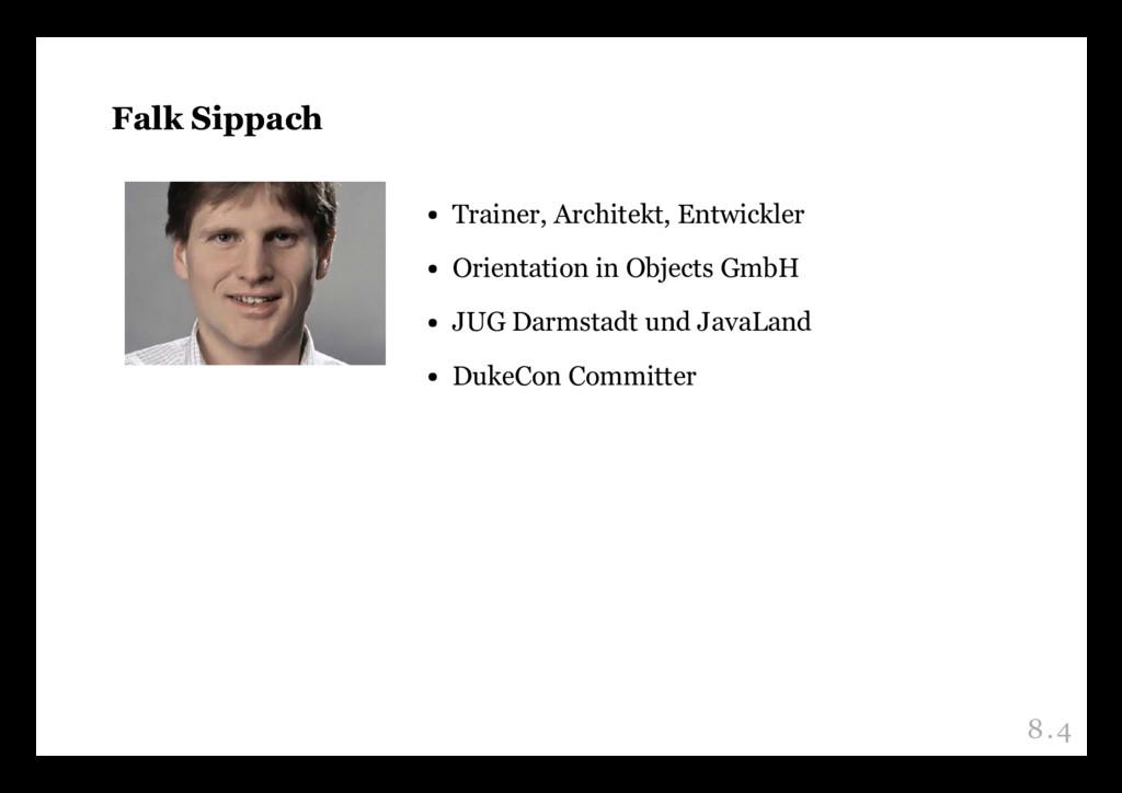 Falk Sippach Falk Sippach Trainer, Architekt, E...