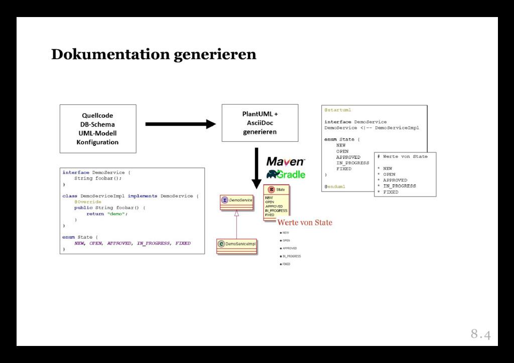 Dokumentation generieren Dokumentation generier...