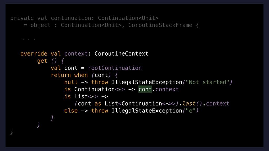 private val continuation: Continuation<Unit> = ...