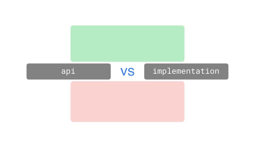 api implementation vs