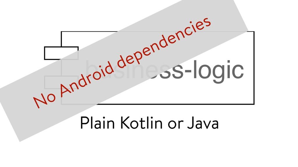 Plain Kotlin or Java No Android dependencies