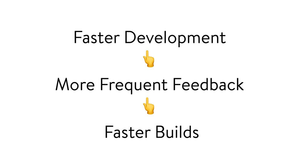 Faster Development  More Frequent Feedback  Fas...