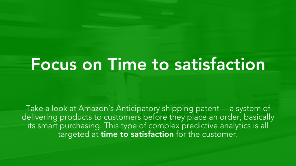 Focus on Time to satisfaction Take a look at Am...