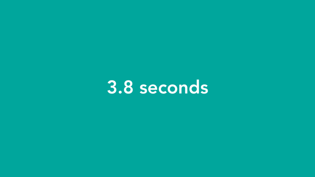 3.8 seconds
