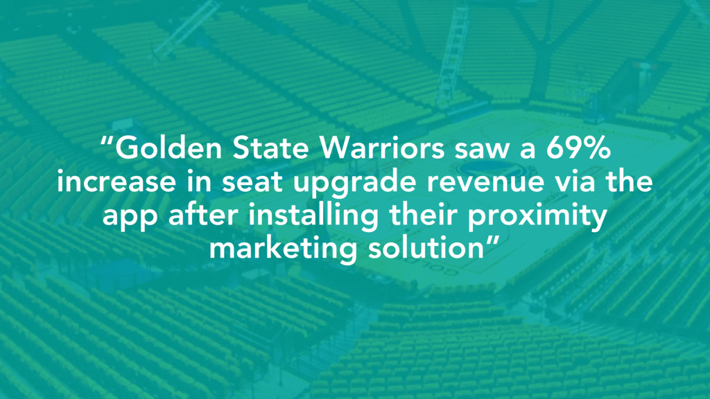 """""""Golden State Warriors saw a 69% increase in se..."""