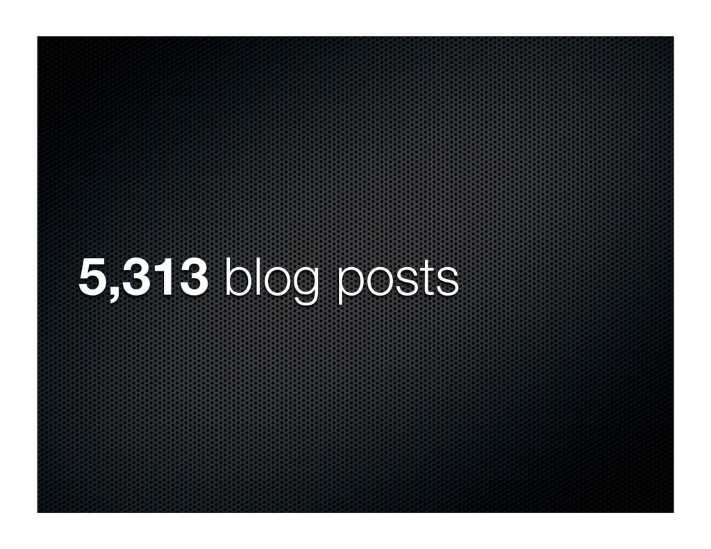 5,313 blog posts