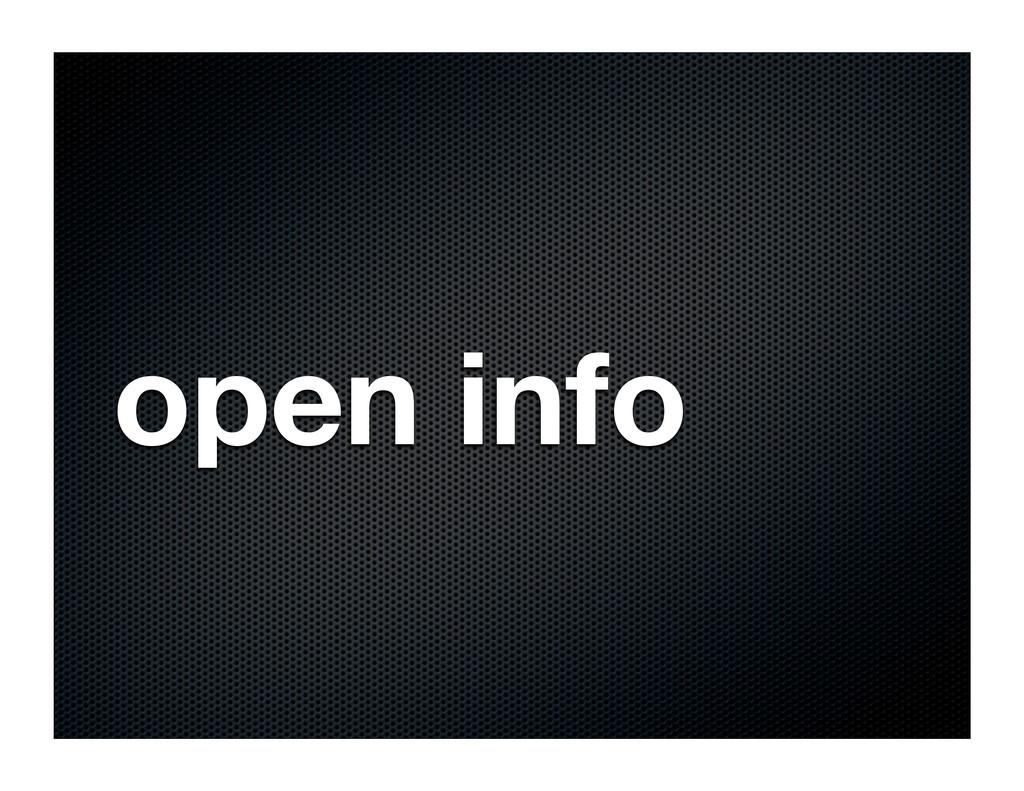 open info