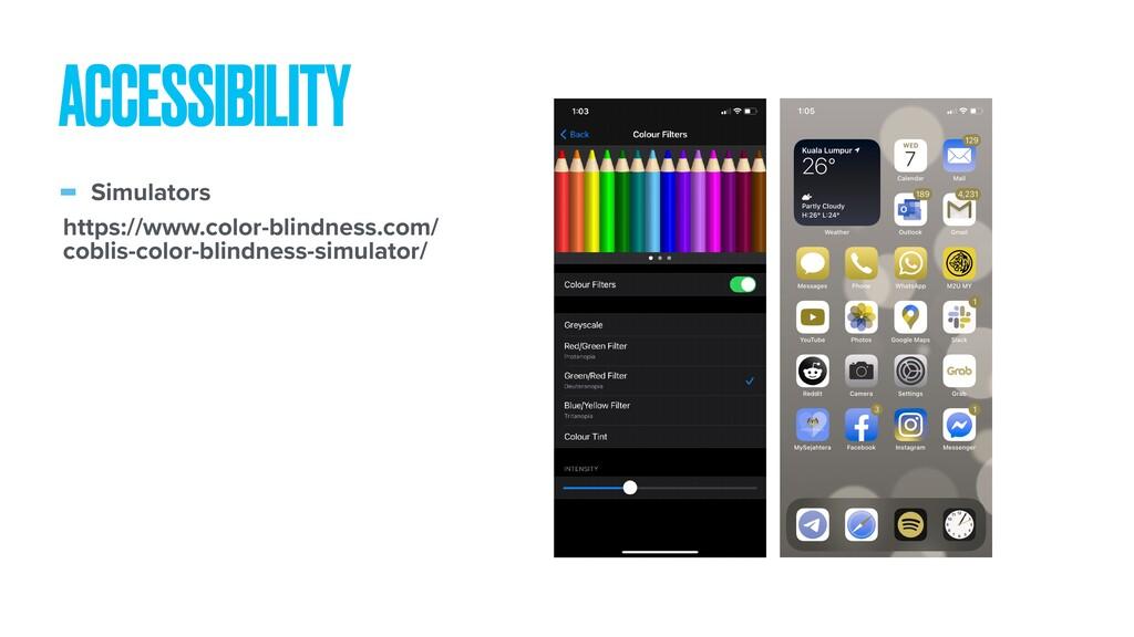 - Simulators ACCESSIBILITY https://www.color-bl...