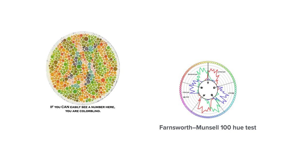 Farnsworth–Munsell 100 hue test