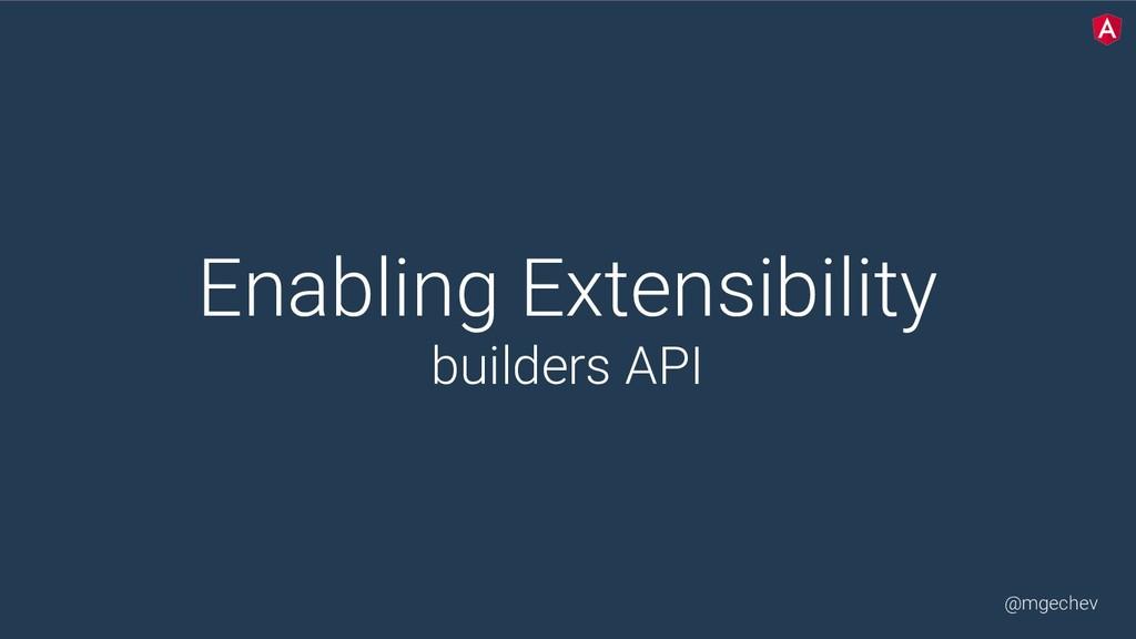@mgechev Enabling Extensibility builders API