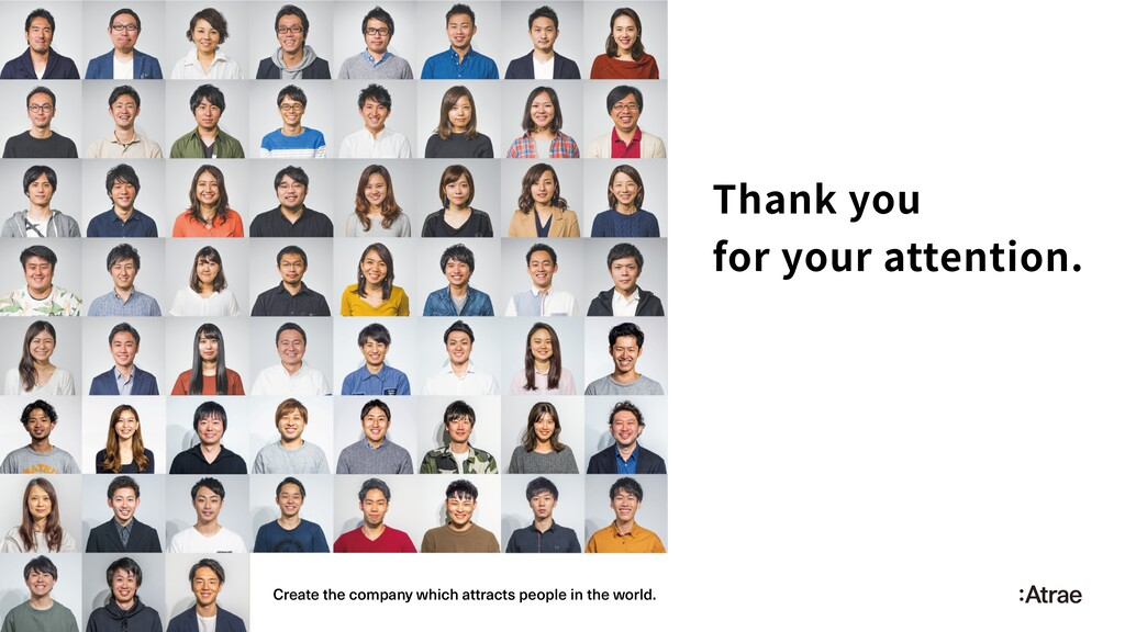 Thank you for your attention. Create the compan...