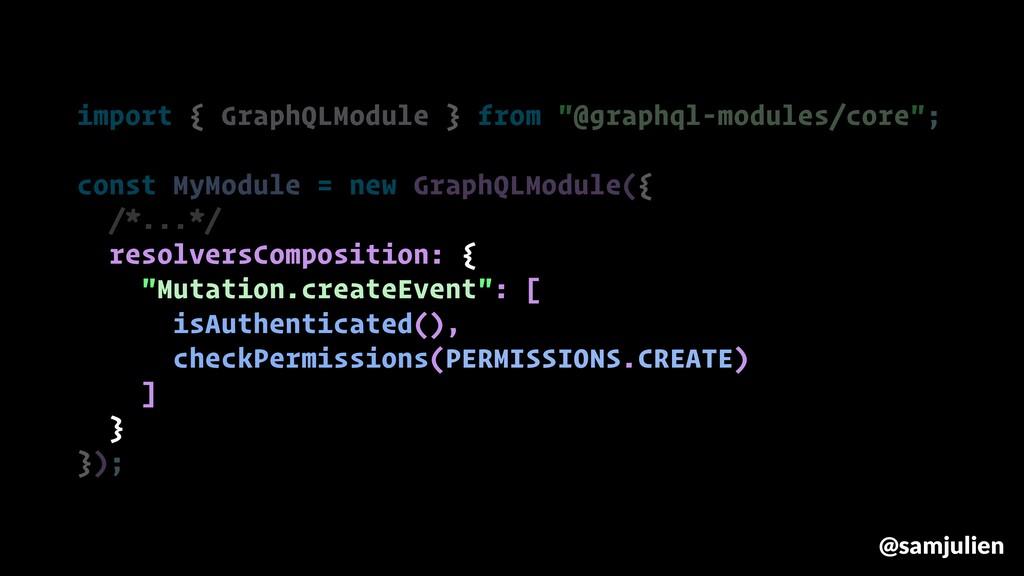 "import { GraphQLModule } from ""@graphql-modules..."