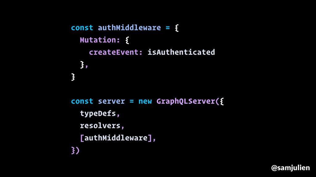 const authMiddleware = { Mutation: { createEven...