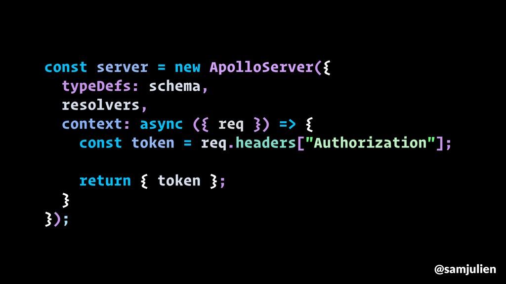 const server = new ApolloServer({ typeDefs: sch...
