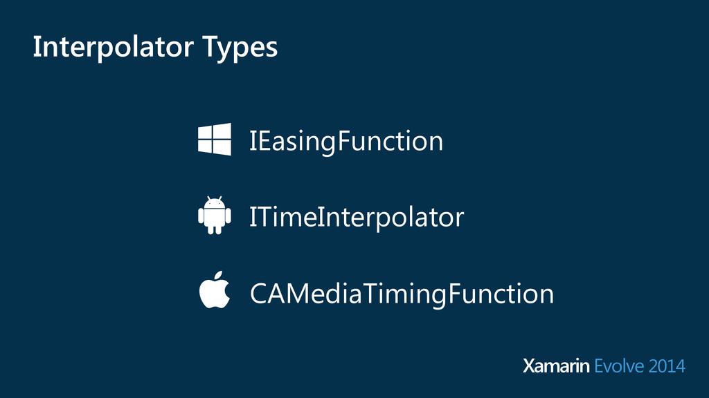 IEasingFunction ITimeInterpolator CAMediaTiming...