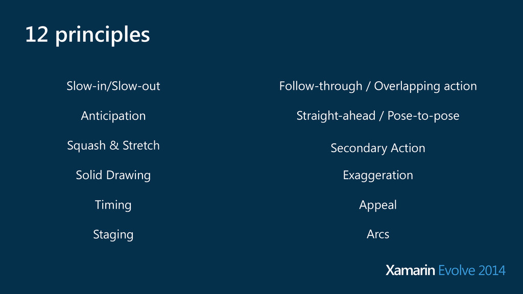 12 principles Arcs Exaggeration Straight-ahead ...