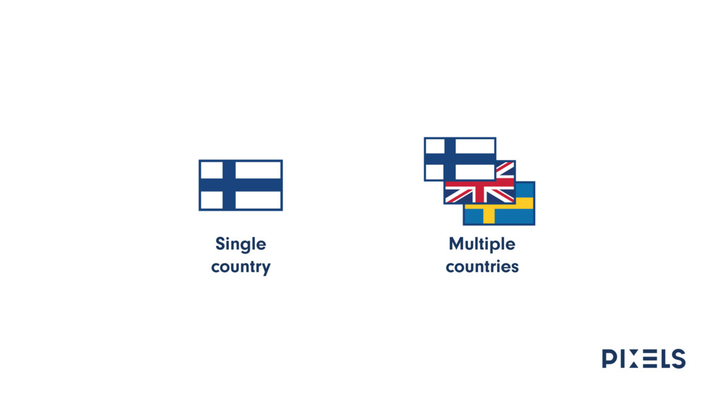 Single country Multiple countries