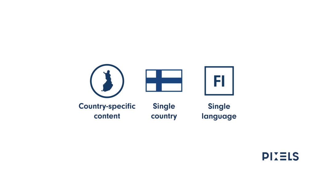 Single country Single language Country-specific ...