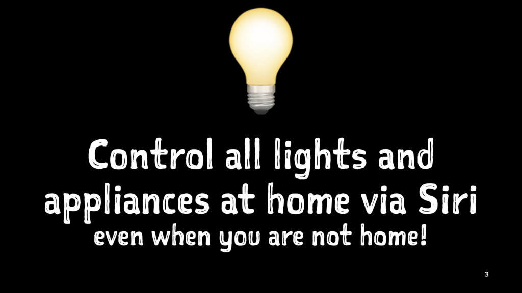 ! Control all lights and appliances at home via...