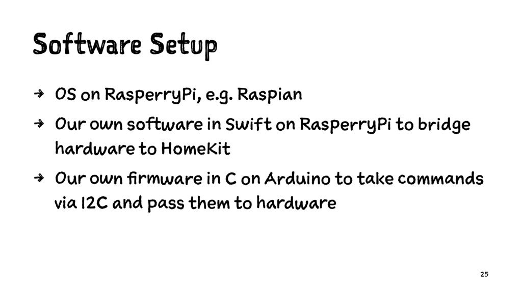 Software Setup 4 OS on RasperryPi, e.g. Raspian...