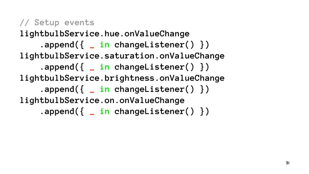 // Setup events lightbulbService.hue.onValueCha...