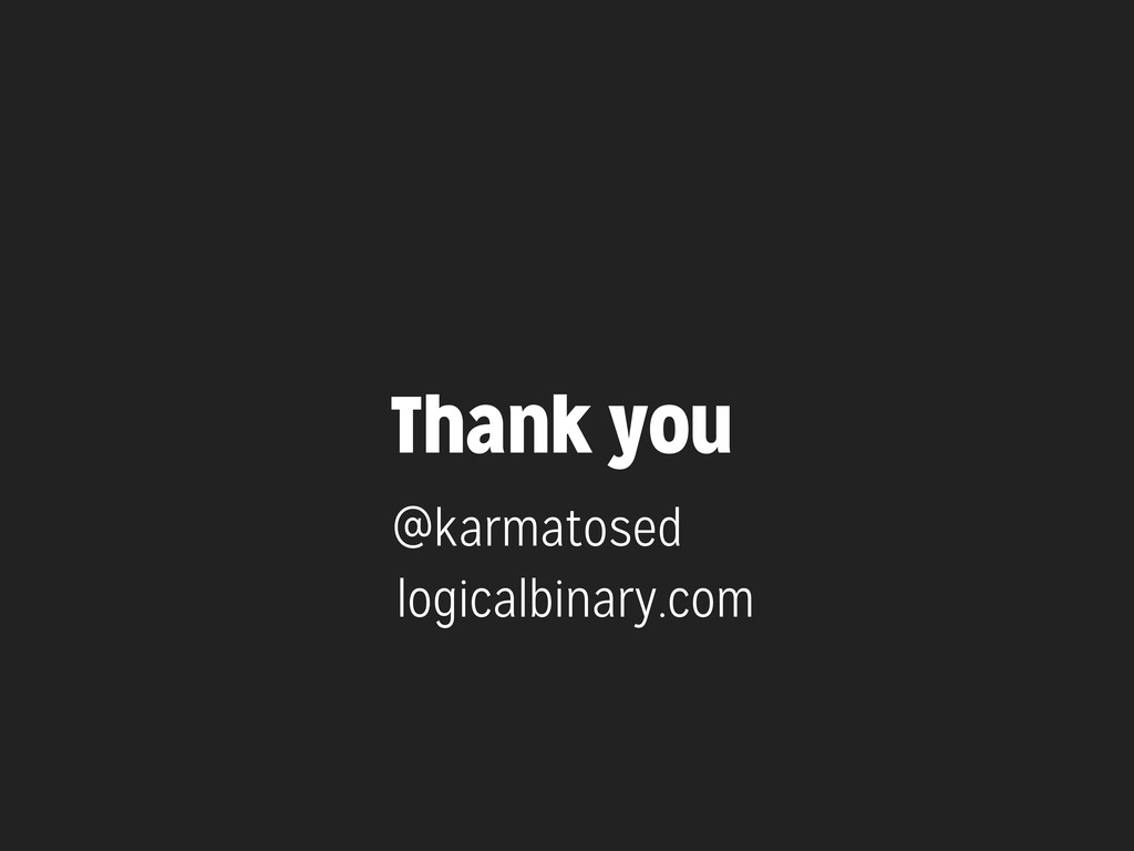 Thank you @karmatosed logicalbinary.com