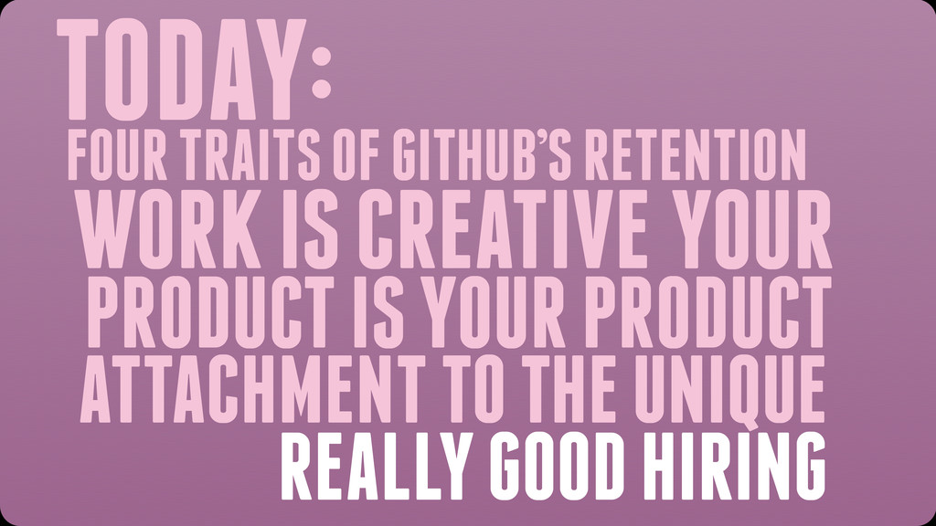 TODAY: WORK IS CREATIVE YOUR PRODUCT IS YOUR PR...