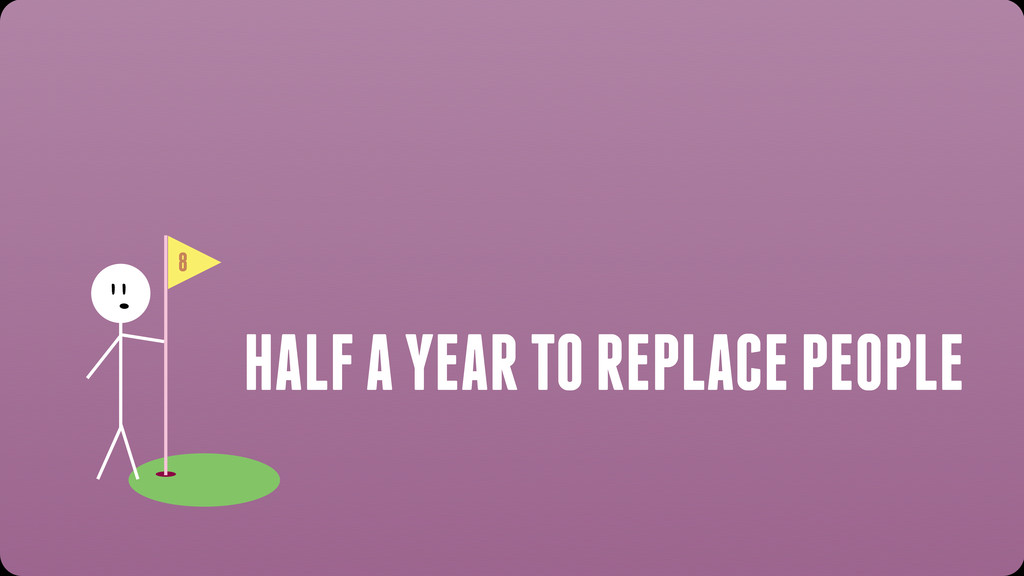 8 HALF A YEAR TO REPLACE PEOPLE