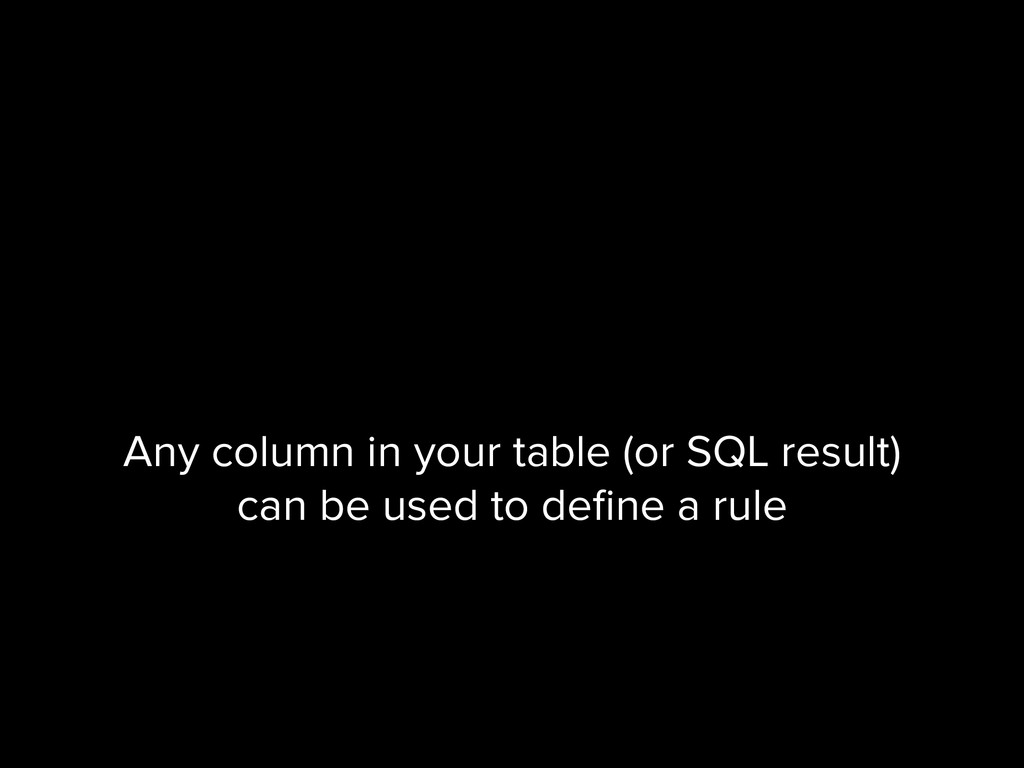 Any column in your table (or SQL result) can be...