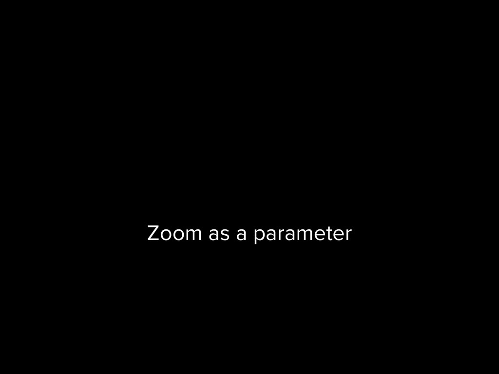 Zoom as a parameter