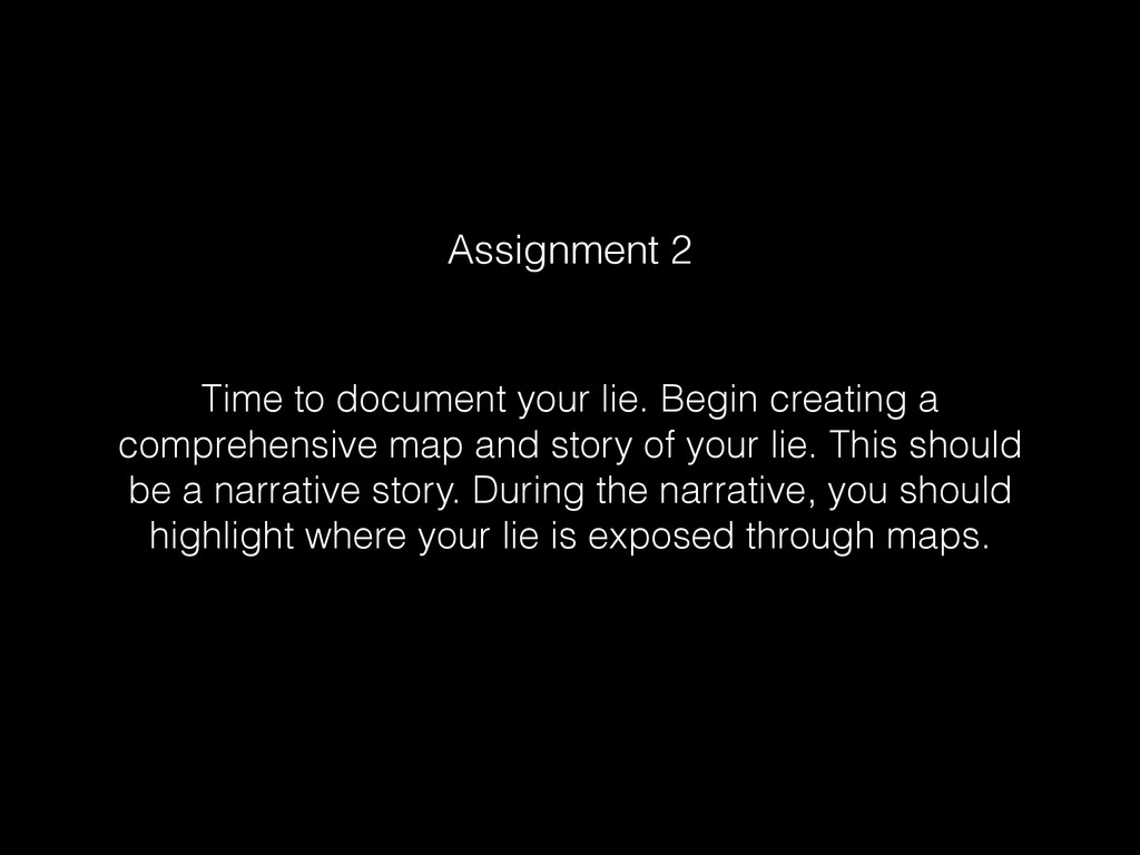 Time to document your lie. Begin creating a com...