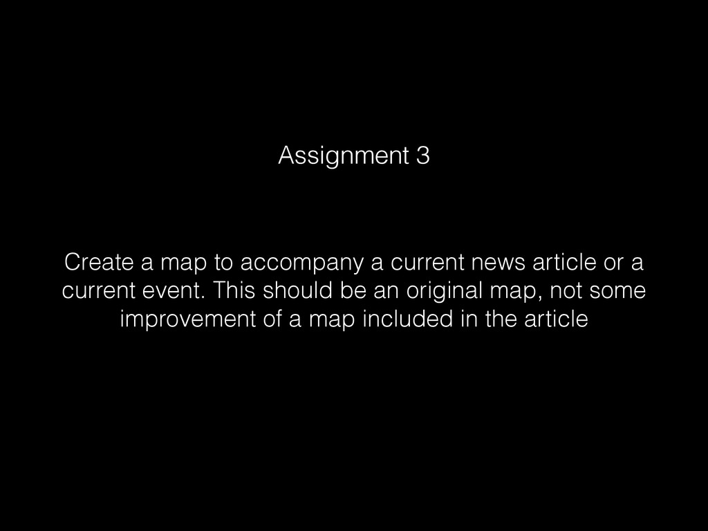Create a map to accompany a current news articl...