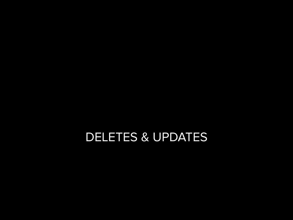 DELETES & UPDATES