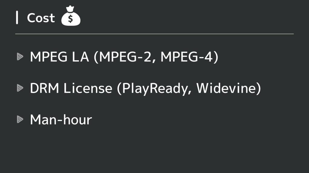 Cost MPEG LA (MPEG-2, MPEG-4) DRM License (Play...