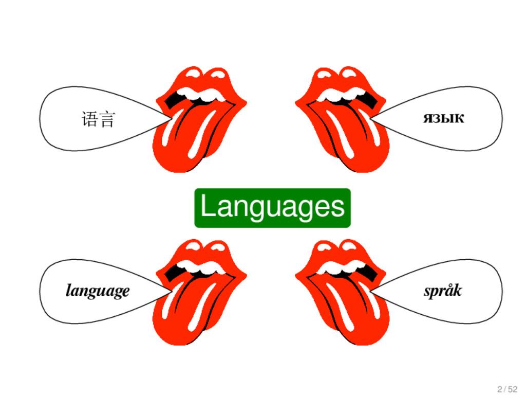 Languages 语言 language язык språk Languages 2 / ...