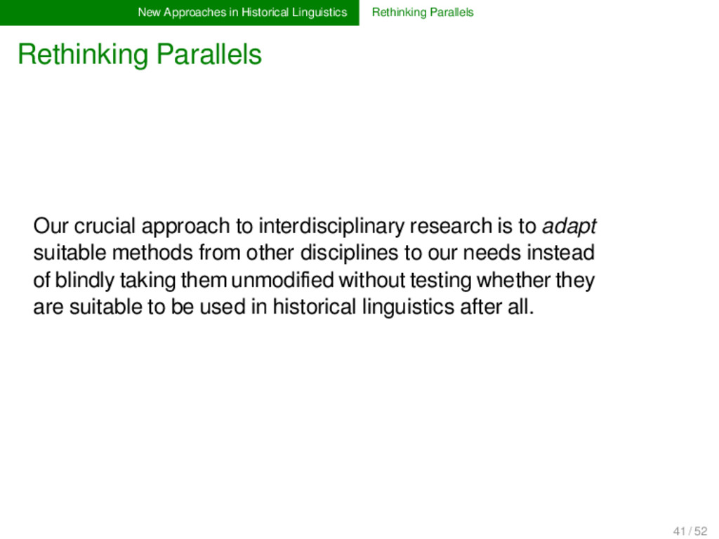New Approaches in Historical Linguistics Rethin...