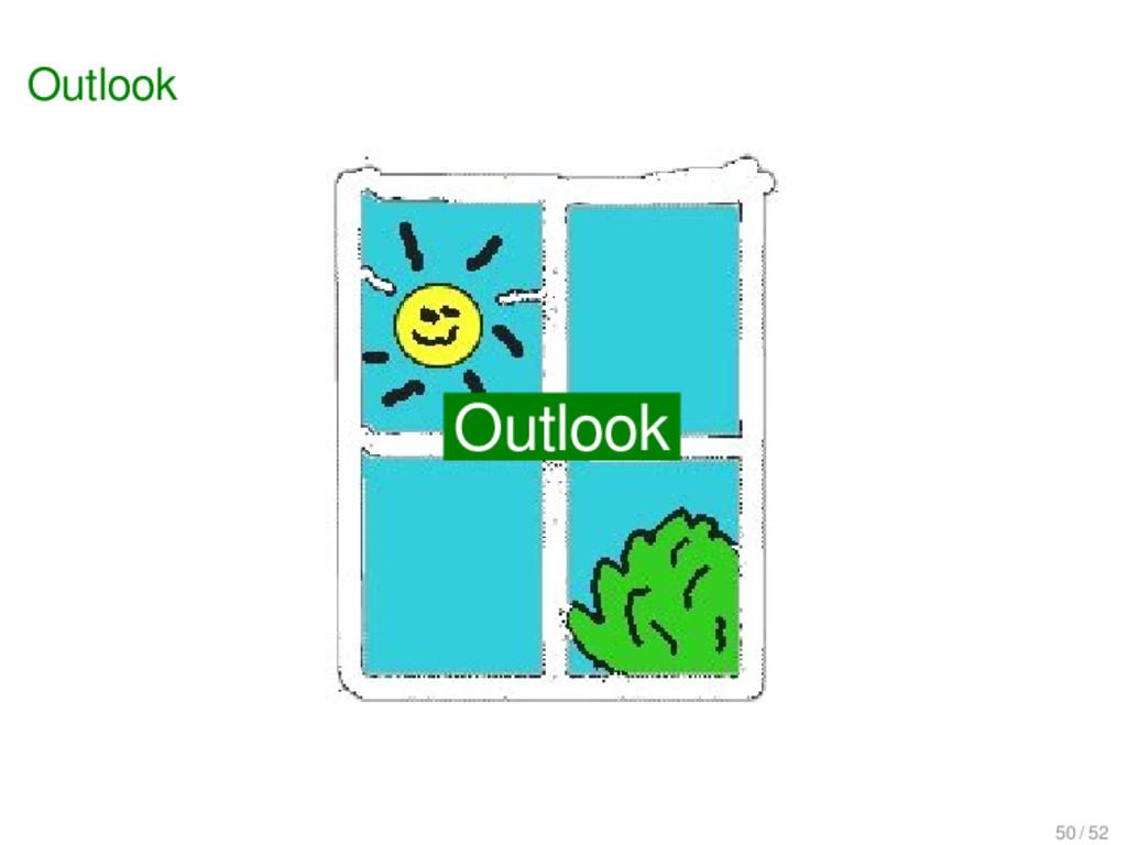 Outlook Outlook Outlook 50 / 52