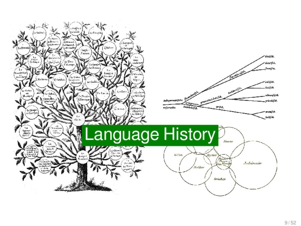 Language History Language History 9 / 52