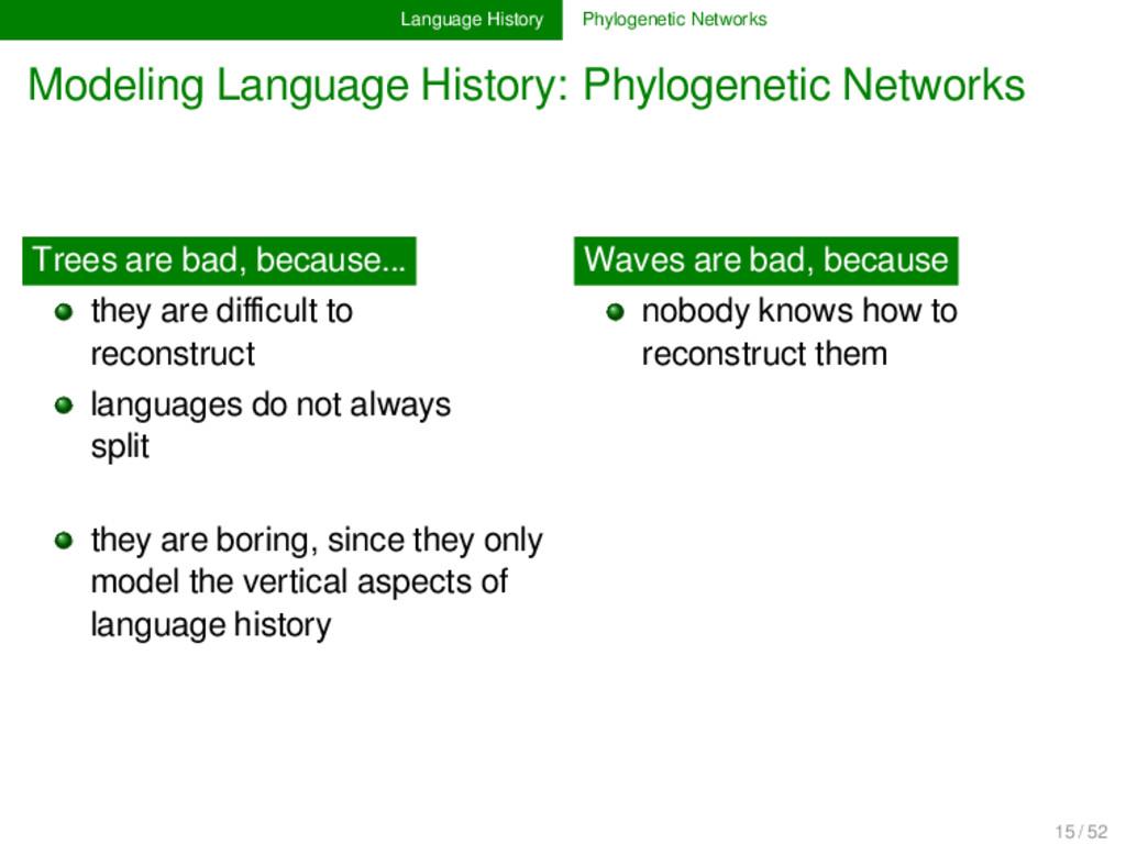 Language History Phylogenetic Networks Modeling...