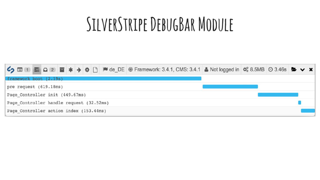 SilverStripe DebugBar Module