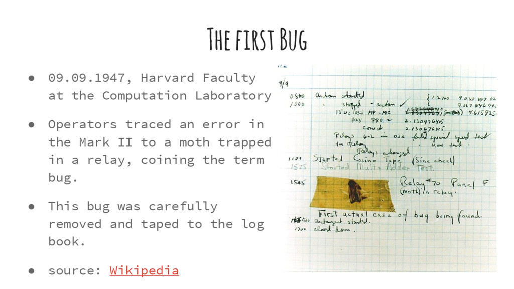 The first Bug ● 09.09.1947, Harvard Faculty at ...