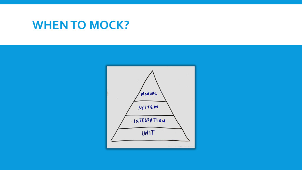 WHEN TO MOCK?