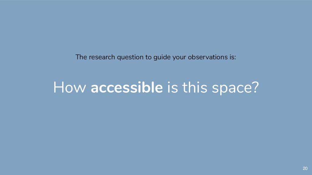 20 The research question to guide your observat...