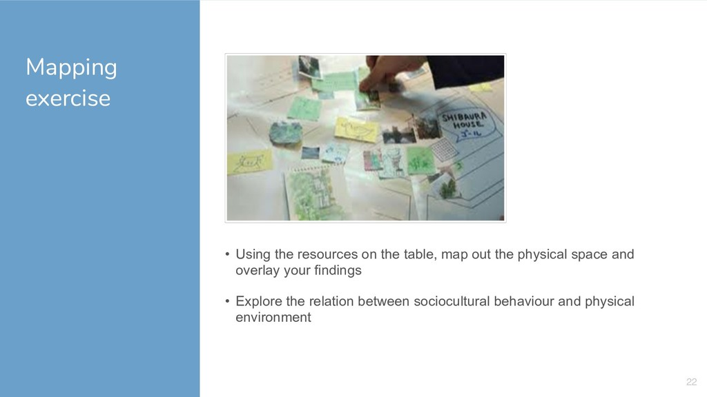 Mapping exercise 22 • Using the resources on th...
