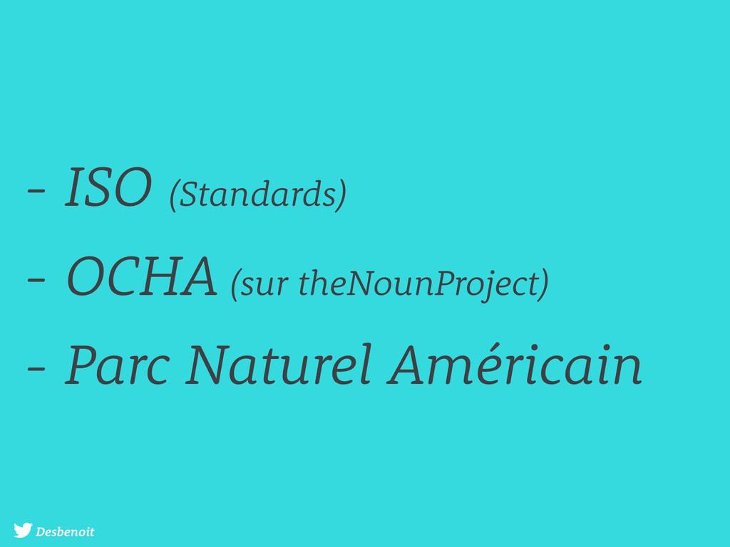 Desbenoit - ISO (Standards) - OCHA (sur theNoun...