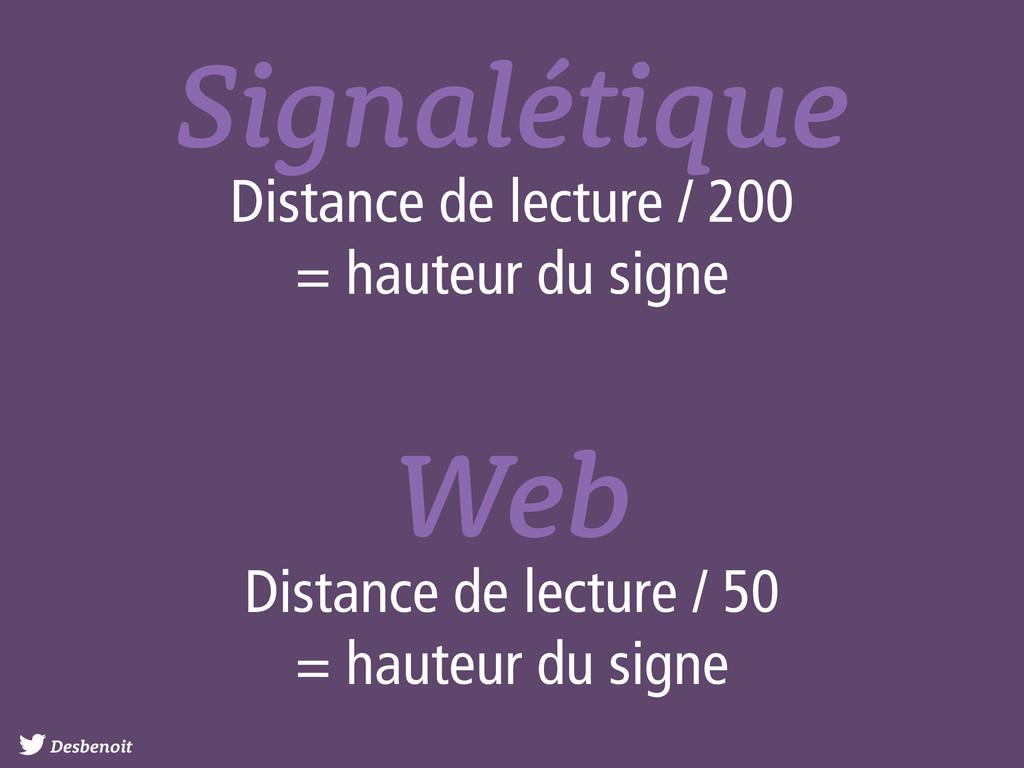 Desbenoit Signalétique Distance de lecture / 20...