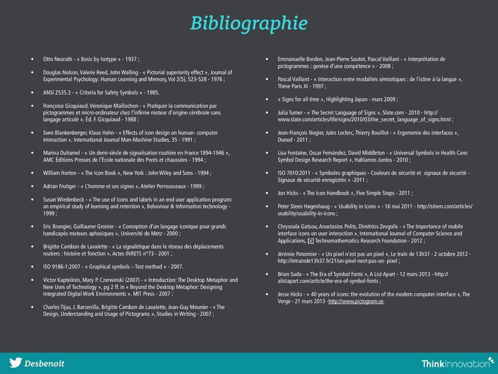 Bibliographie Desbenoit • Otto Neurath - « Basi...