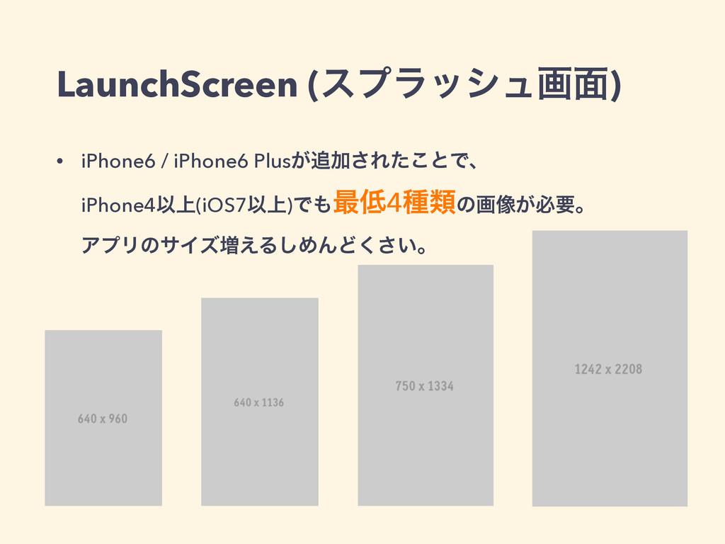LaunchScreen (εϓϥογϡը໘) • iPhone6 / iPhone6 Plu...